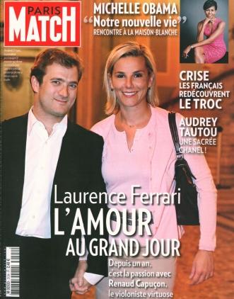 Laurence ferrari, Renaud Capuçon - Paris Match - 2 avril 2009