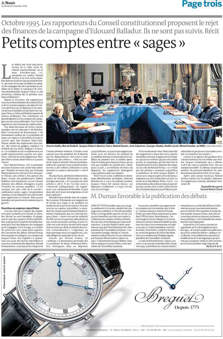 Le Monde, 26 nov