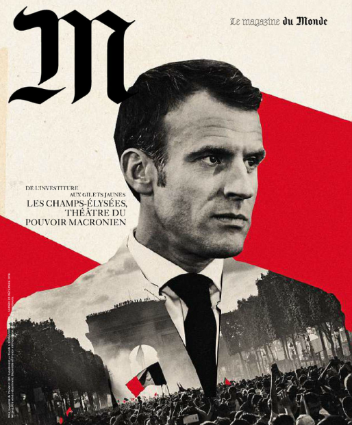 Le monde Macron Une