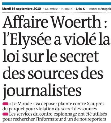 Le Monde porte plainte dans l'affaire Bettencourt - Le Monde - 13/09/10