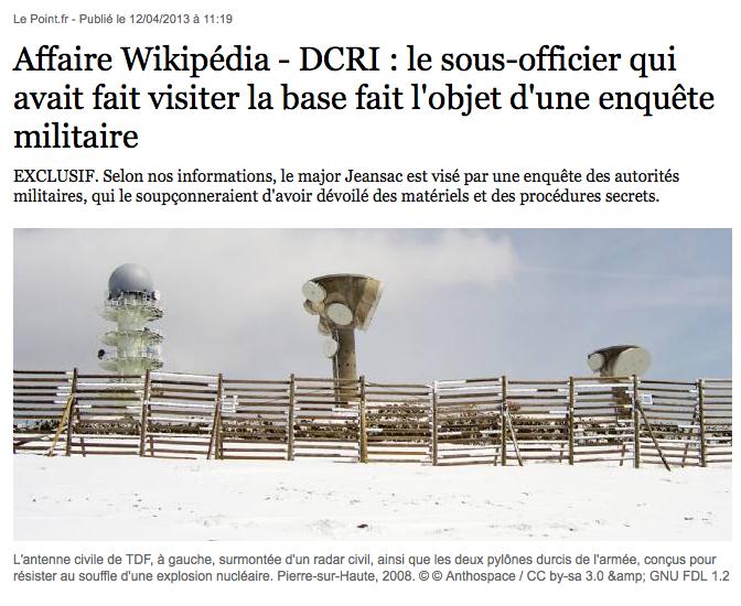 Le Point, DCRI