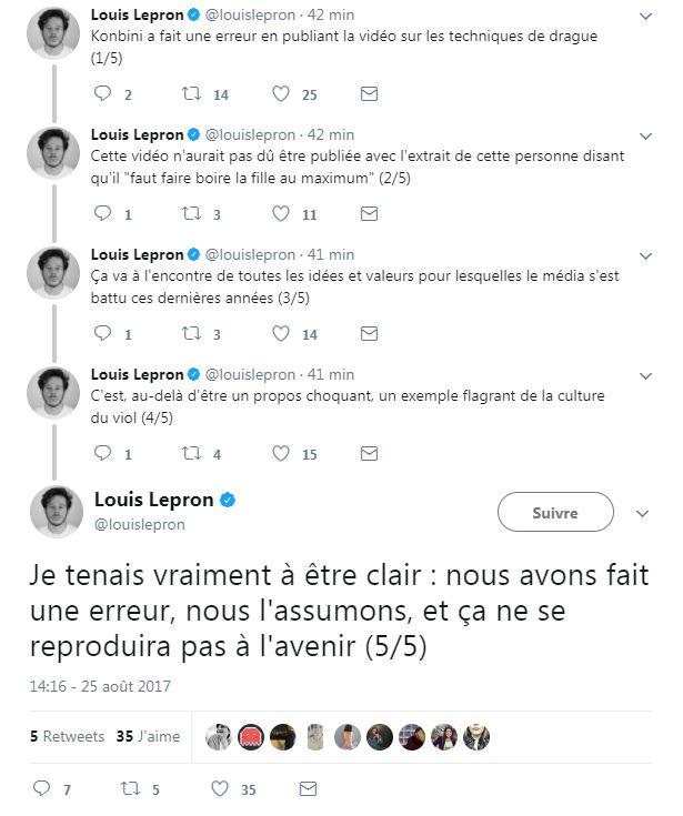 Lepron excuses Konbini