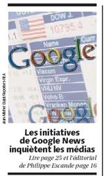 LesEchos, Google News