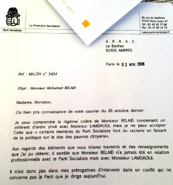 Lettre Martine Aubry - Mohammed Bellaïd