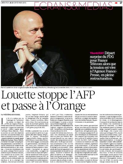 Liberation, AFP