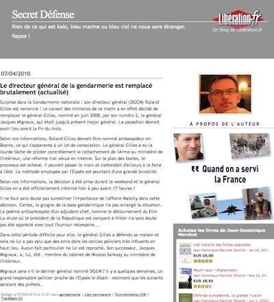 Liberation, gendarmerie