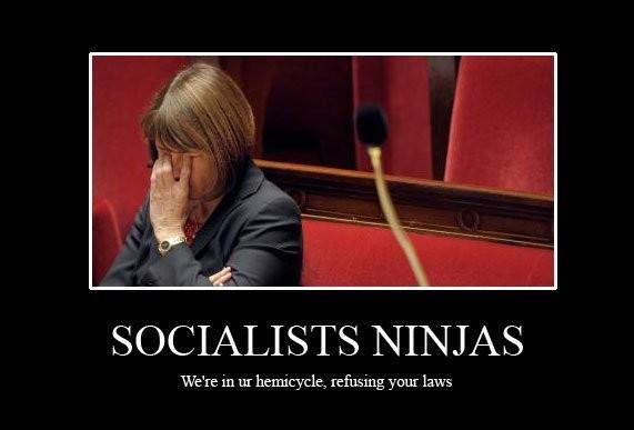 Loi hadopi - Albanel et les socialist ninjas
