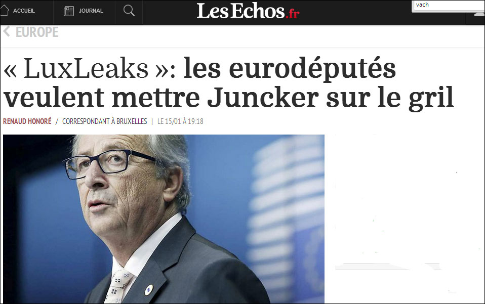 LuxLeaks Les Echos