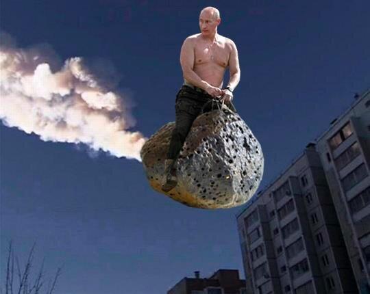 Mème Poutine météorite
