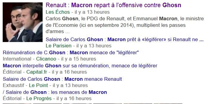 Macron Ghosn