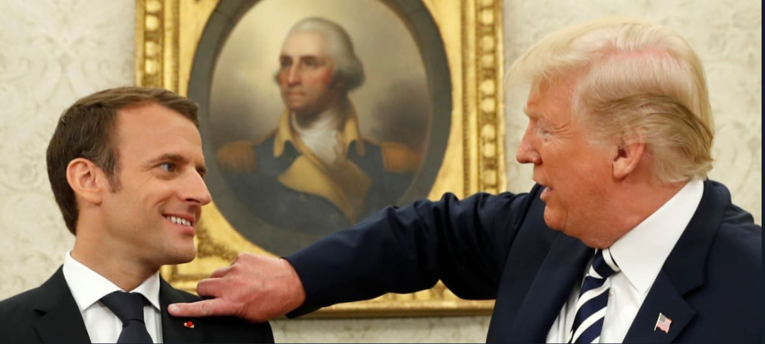 Macron Trump pellicules