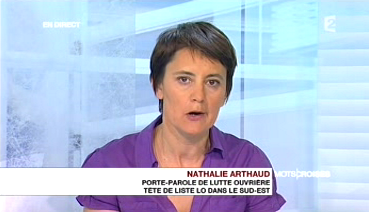 Nathalie Arthaud Mots croisés
