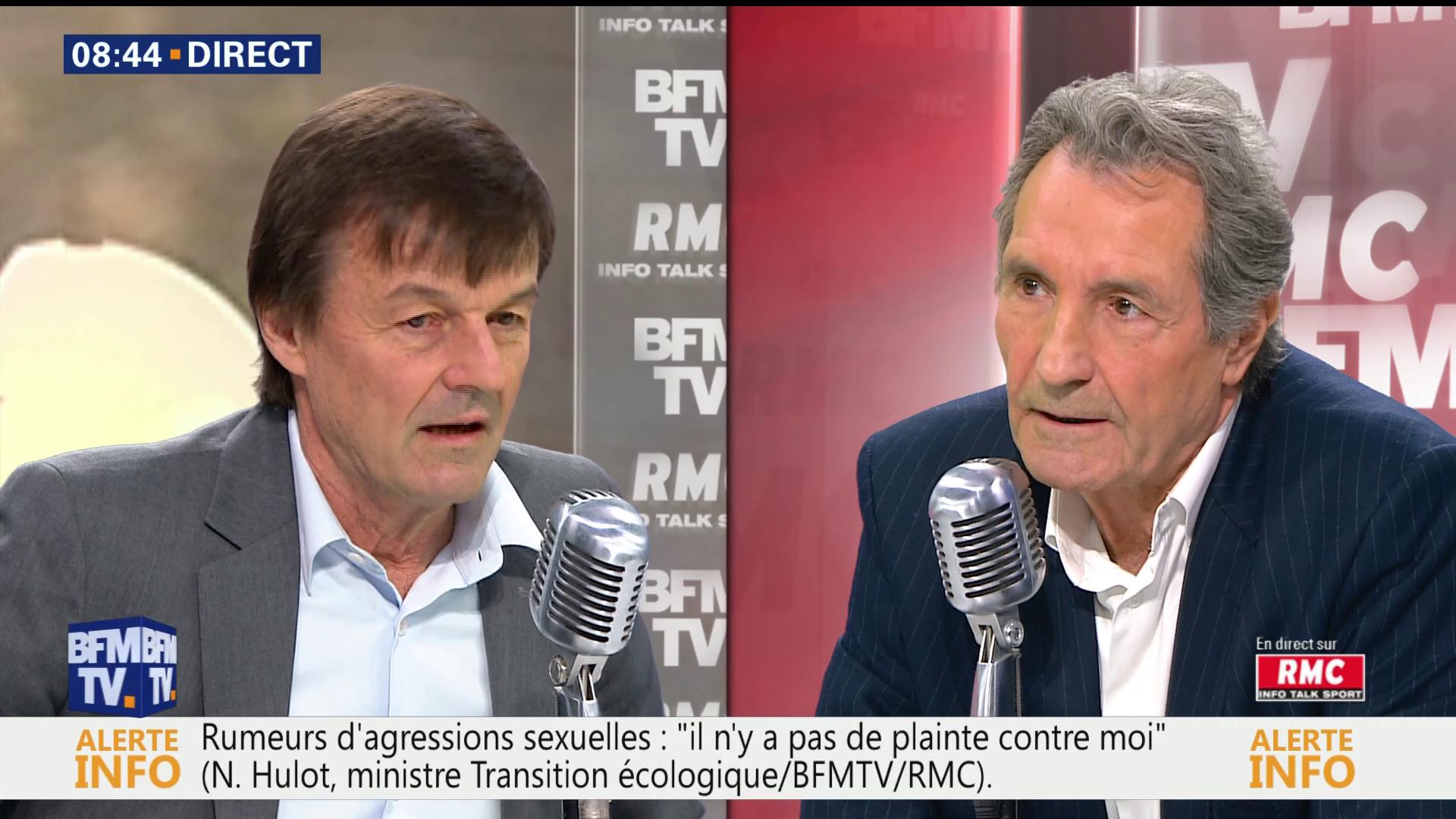 Nicolas Hulot au micro de Jean-Jacques Bourdin
