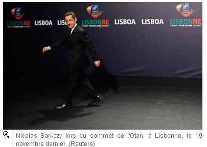 Nicolas Sarkozy à Bruxelles - Photo Reuters, source : JDD.fr