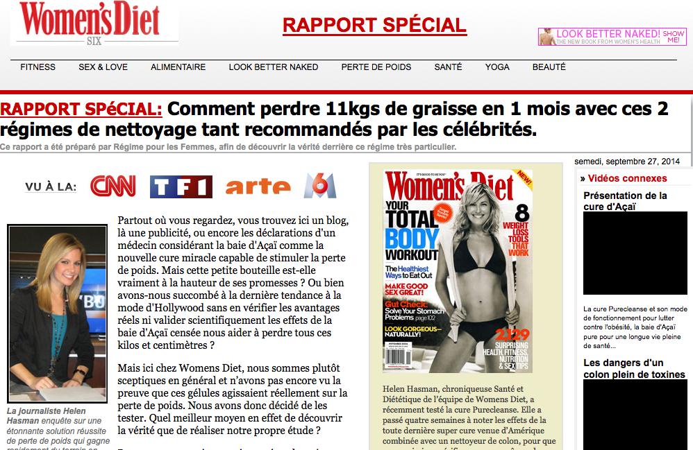 Continuons de seurfer, pour tomber à nouveau sur le site Women s Diet où  Aimée Gautier, ou plutôt Helen Hasman, s appelle maintenant Françoise  Dubois et se ... 908b9bc2f274