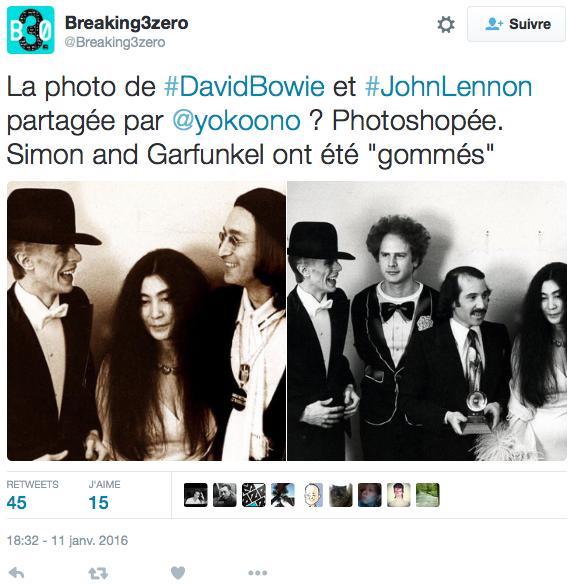 Non Yoko Ono N A Pas Photoshope Simon Et Garfunkel Pour Se Rapprocher De Bowie Par Alain Korkos Arret Sur Images