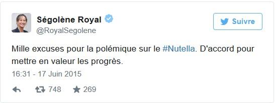 Nutella excuses Royal