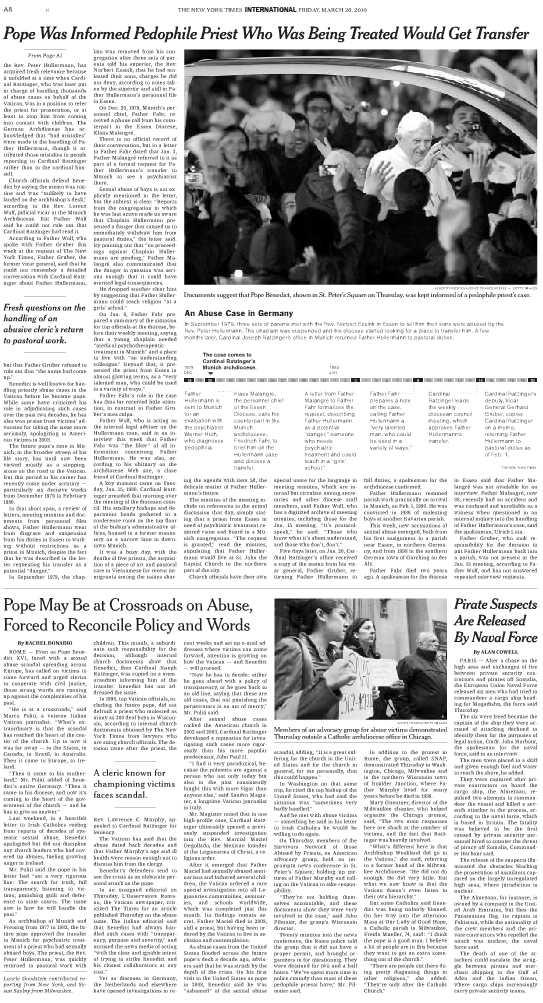 NYT, pape,