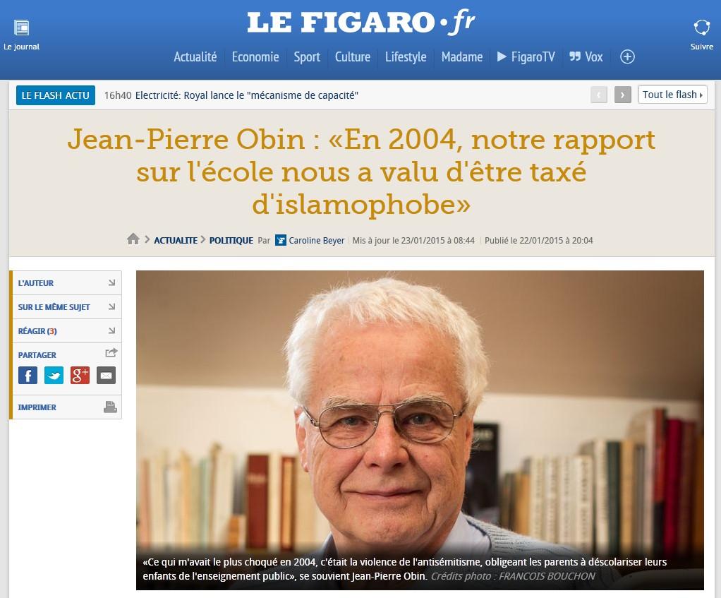 Obin dans Le Figaro