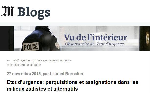 Observatoire état d'urgence Le Monde