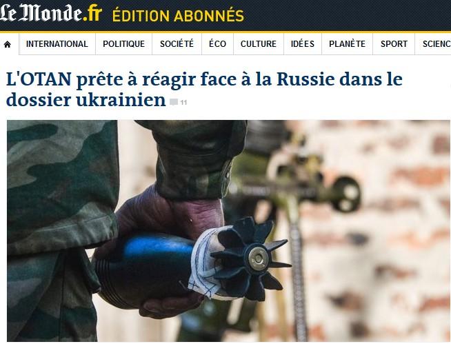 OTAN Ukraine Le Monde