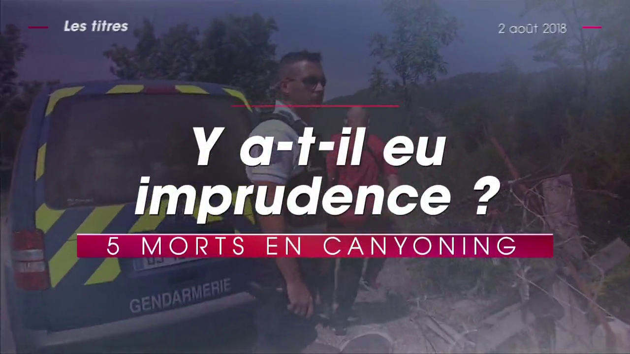 Ouverture du JT de TF1 - 2 août 2018