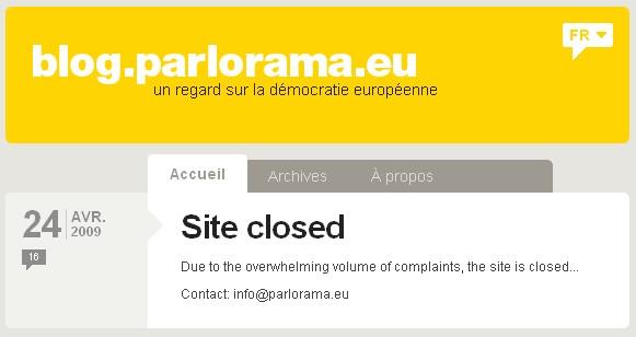 Parlorama-closed