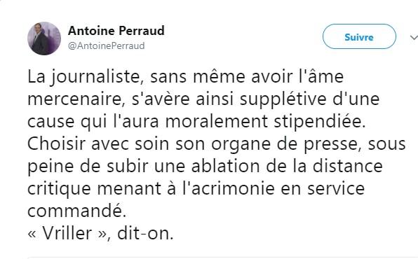 Perraud tweet