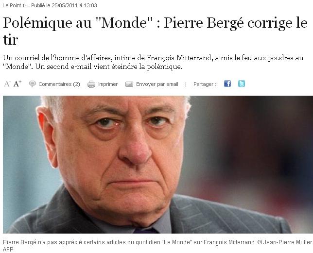 Pierre Bergé corrige le tir