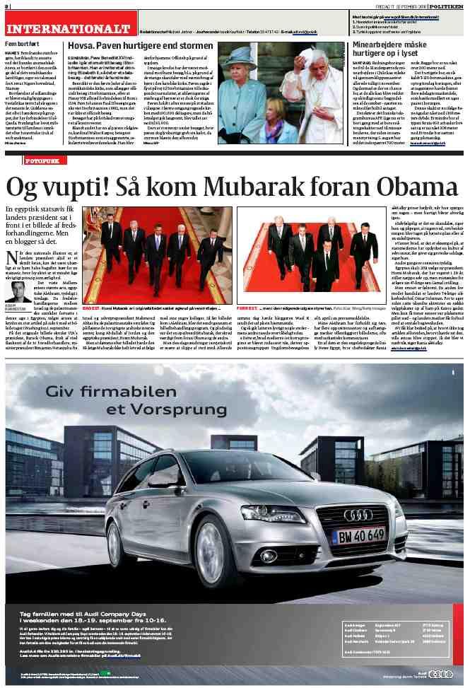 Politiken, Moubarak