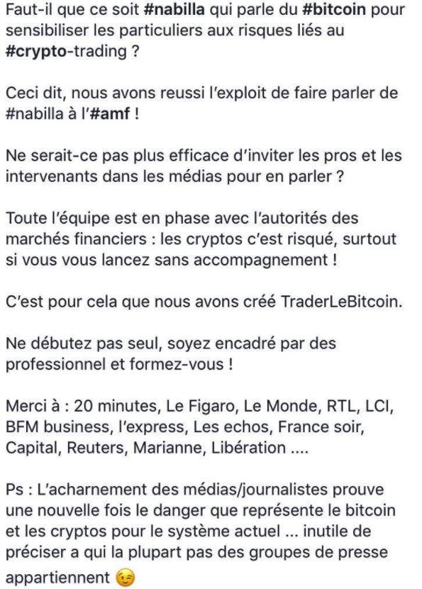 Romain Bailleul remercie les médias