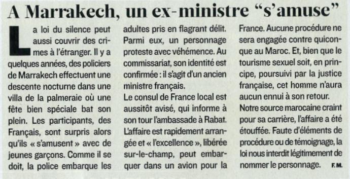 Rumeur ancien ministre - Figaro Magazine - 28/05/11