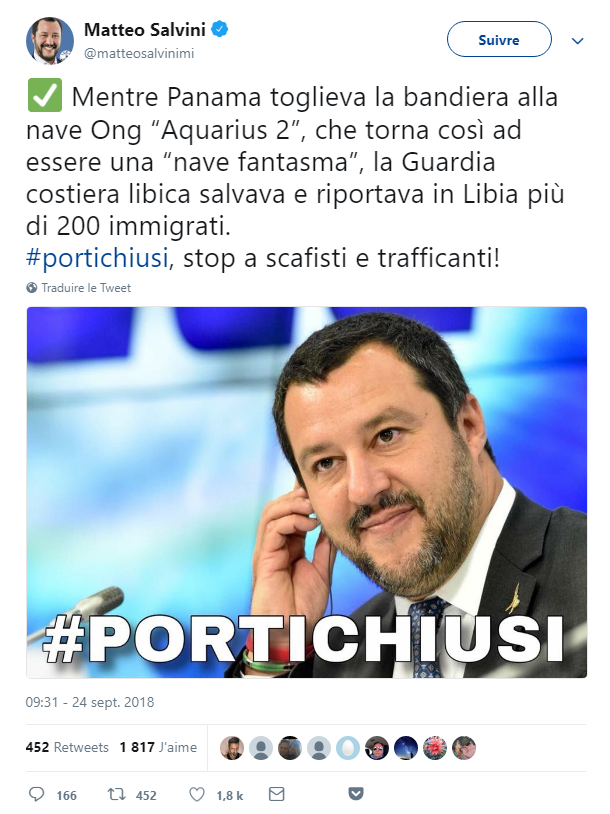 Salvini Aquarius
