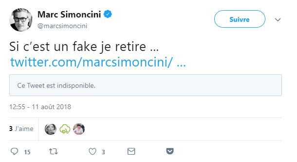 Simoncini retiré