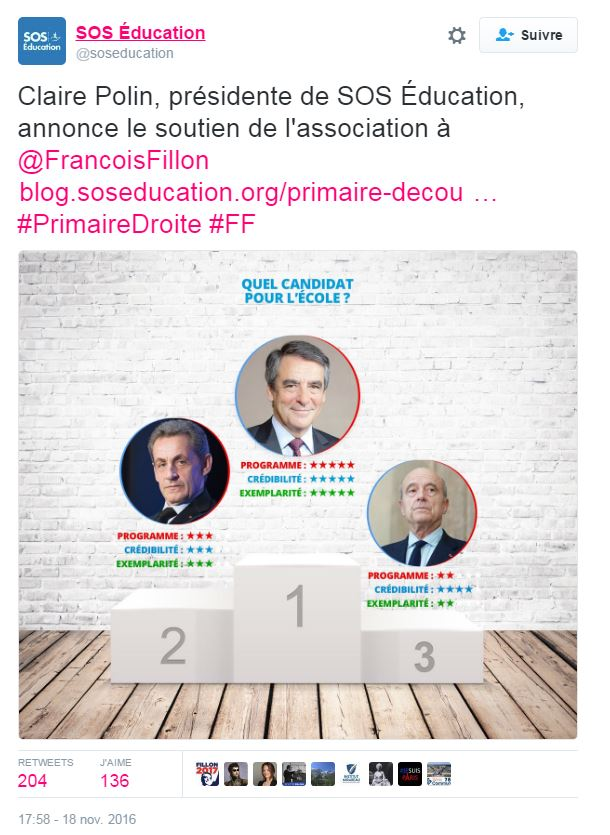 SOS Education soutien Fillon