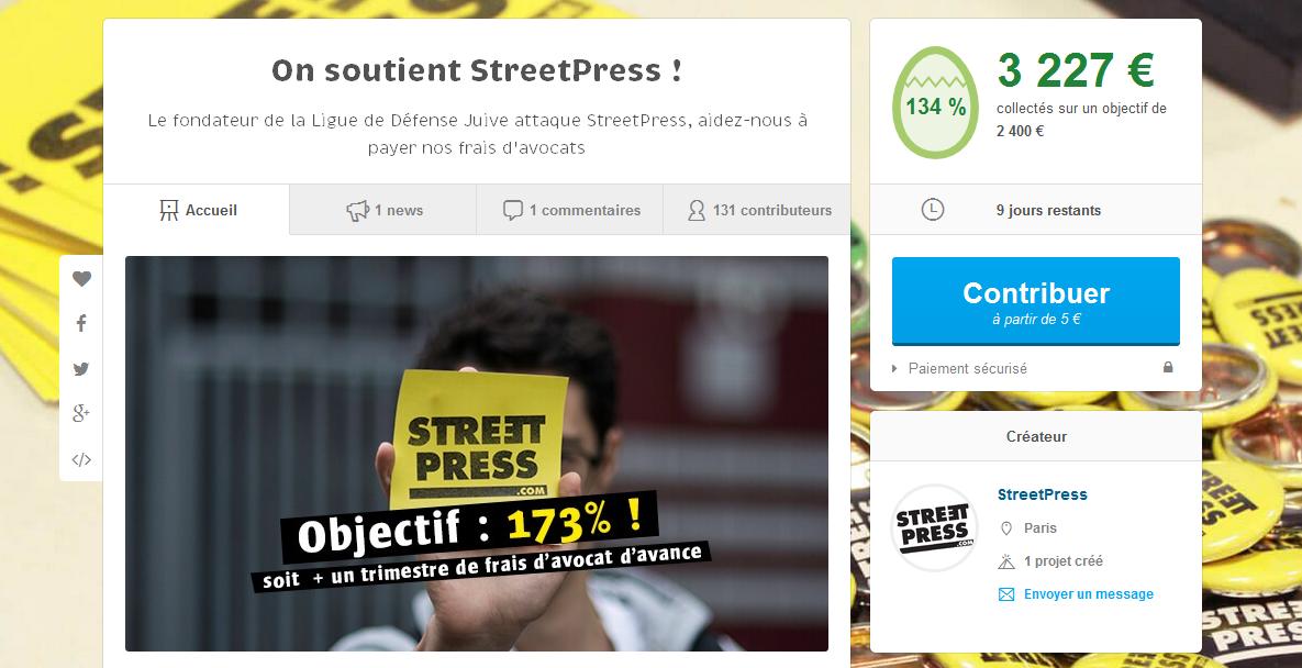 StreetPress campagne ulule