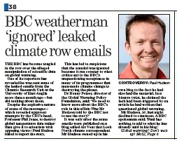 Sunday Mail, BBC, climategate