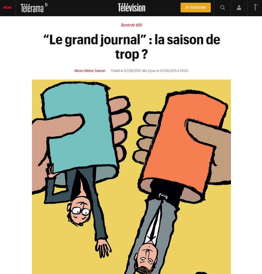 Télérama - Grand journal
