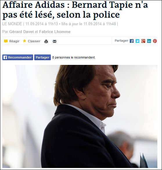 Tapie Le Monde