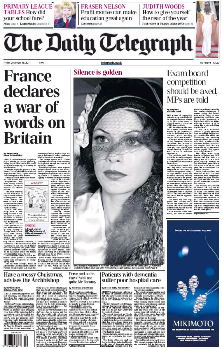 """AAA : la presse GB dénonce la """"guerre"""" française - Par ..."""