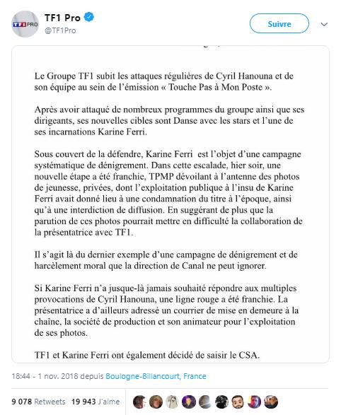 TF1 Karine FERRI