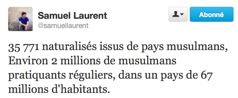 Tweet Samuel Laurent