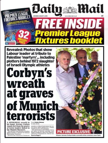 Une du Daily Mail - 11 août 2018