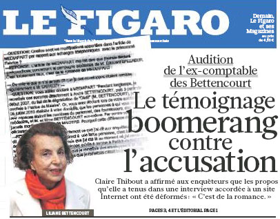 Une du Figaro