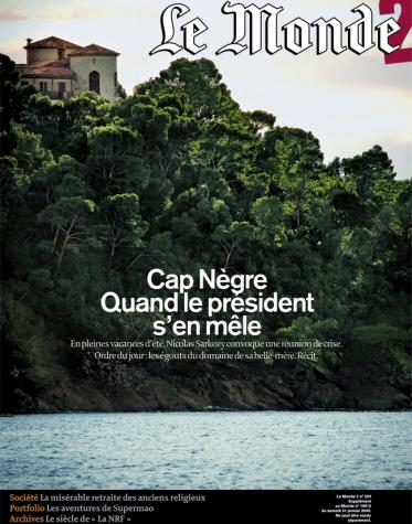 Une du Monde 2 Cap Nègre - janvier 2009