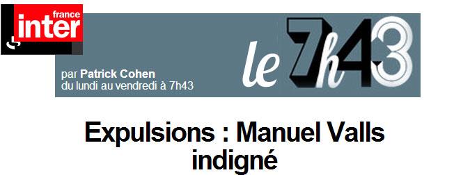 Valls et les roms sur Inter