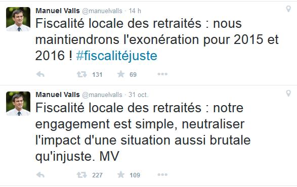 Valls impôts tweets
