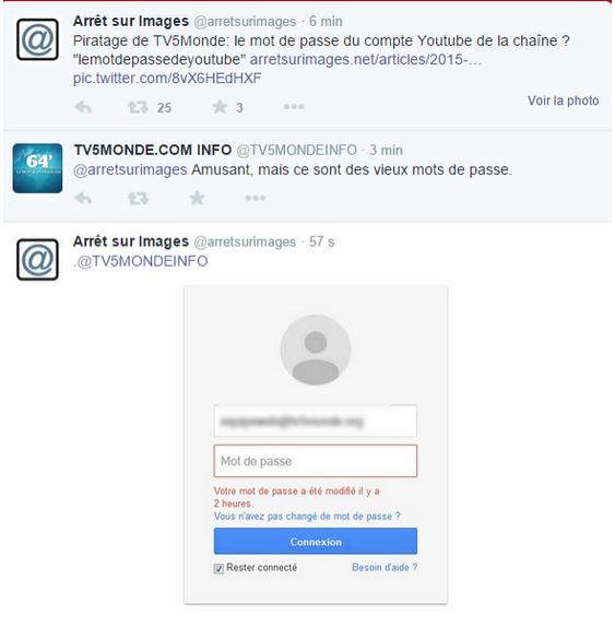 """""""Vieux"""" mot de passe TV5 Monde"""
