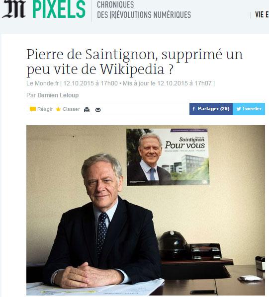 Wikipédia Saintignon