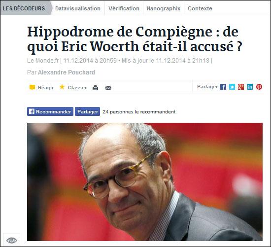 Eric Woerth: Hippodrome De Compiègne : Non-lieu Pour Eric Woerth Par